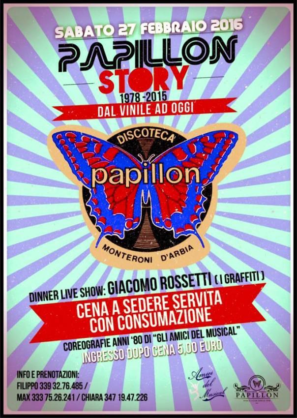 Locandina Papillon Story 27.02.2016