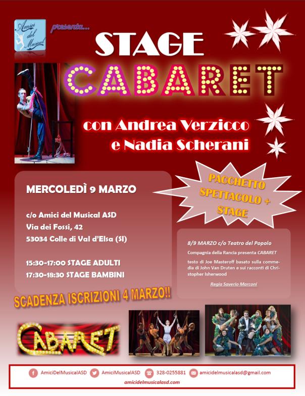 Locandina stage Cabaret