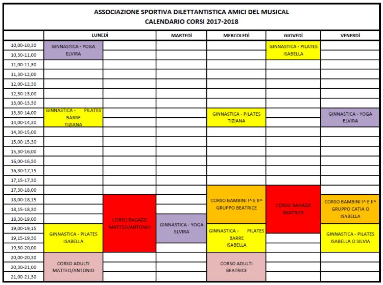 Calendario 2017-2018 III versione